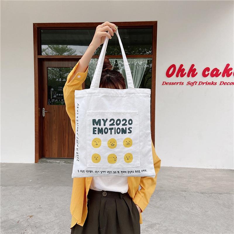 YoReAi Nouveau Femmes sac en toile Sacs Simple Grand Sac à bandoulière étudiant Littérature sac à main