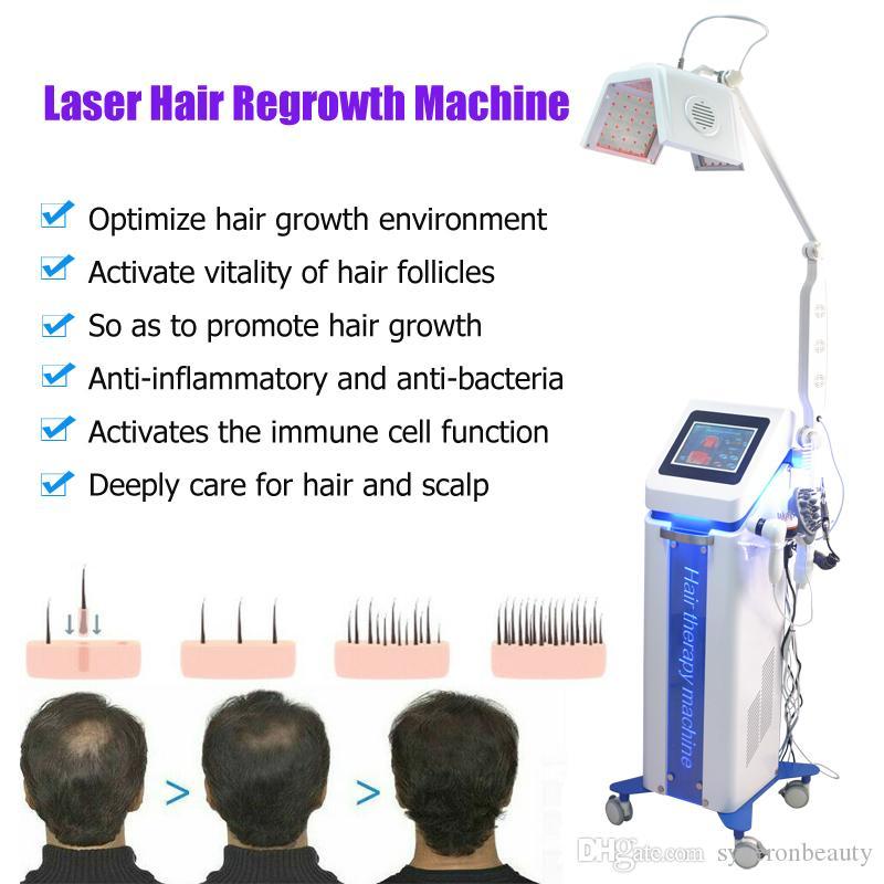 Qualität! 650nm Haarwachstum Maschine Schönheit Behandlung gegen Haarausfall Nachwachsen der Haare Laser-Schönheitsmaschinen Kamm Bürste Kappe 5 Griffe