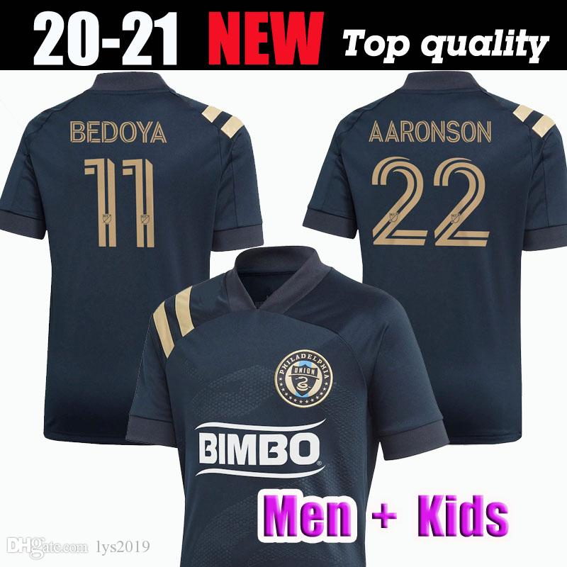 2020 Philadelphia Union Futebol MLS # 10 MONTEIRO BEDOYA Uniforme 2020/21 # 22 AARONSON PRZYBYLKO Futebol Homens crianças kit Shirts