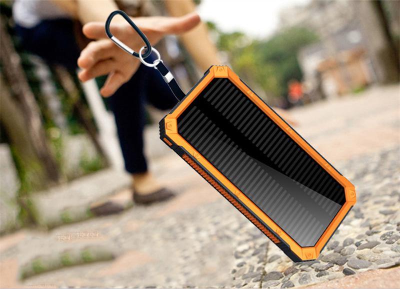 거 대 한 용량 태양 전원 은행 30000mAh 모든 휴대 전화에 대 한 듀얼 -USB 방수 배터리 충전기
