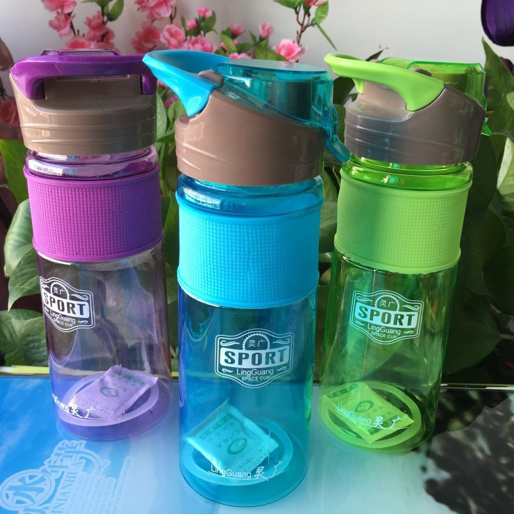 700MLFlip Straw Drink Healthy Water Bottle Cycling Outdoor Drink Bottle with Lid