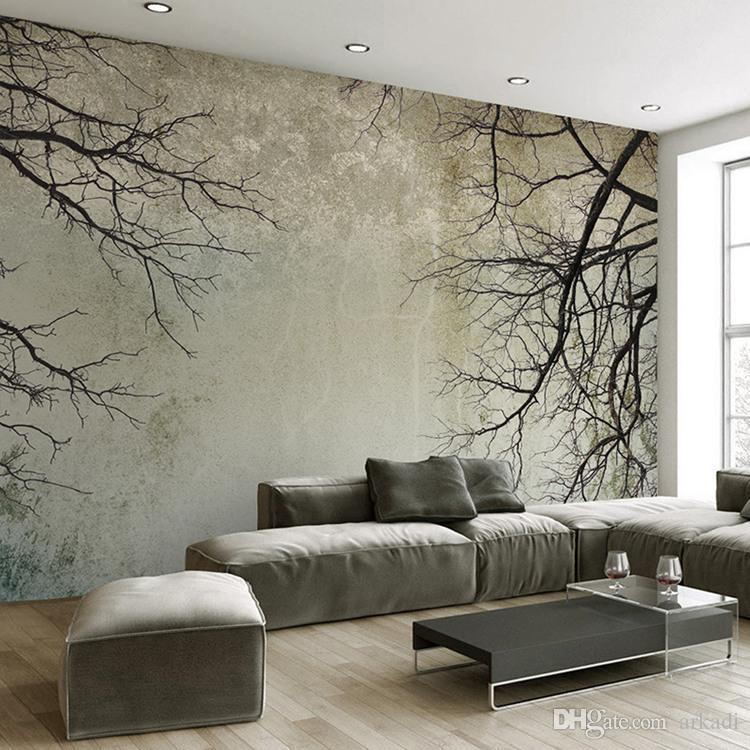 Özel 3D Photo Duvar kağıdı Yaratıcı Özet Ev Dekorasyonu Nordic Stil Ağacı Dallar Sky Papel De Parede Masaüstü Duvar Duvar Kağıdı 3D