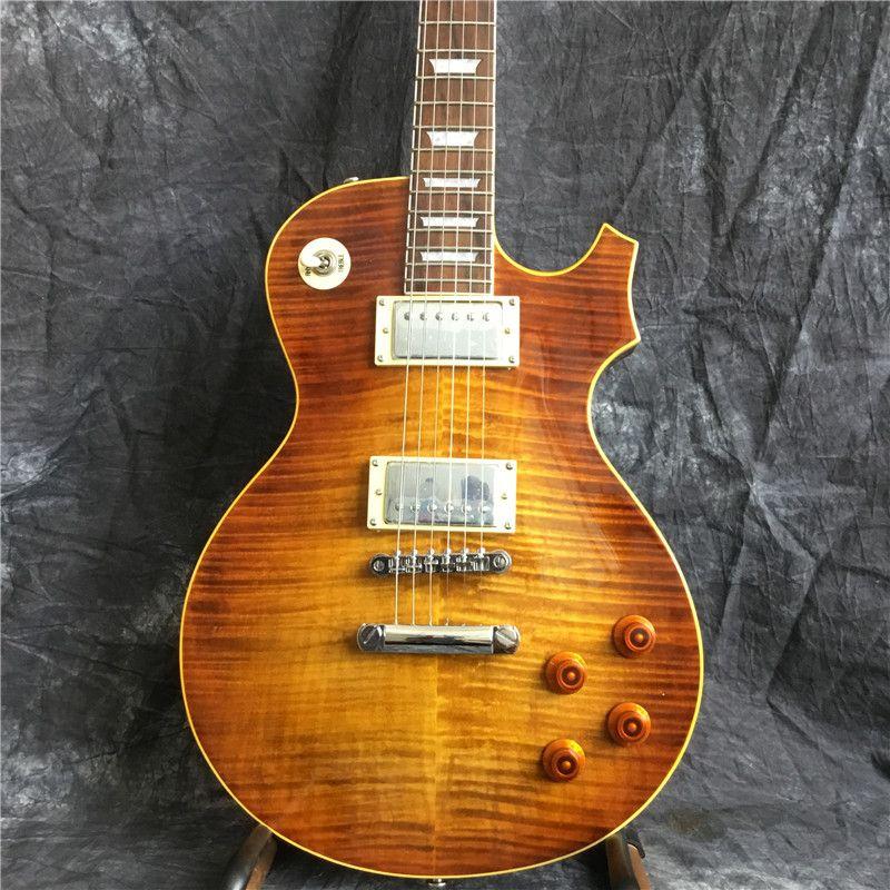 gros custom shop 1959 flamme tigre R9 guitare électrique thermique LP norme 59 6 cordes guitare électrique