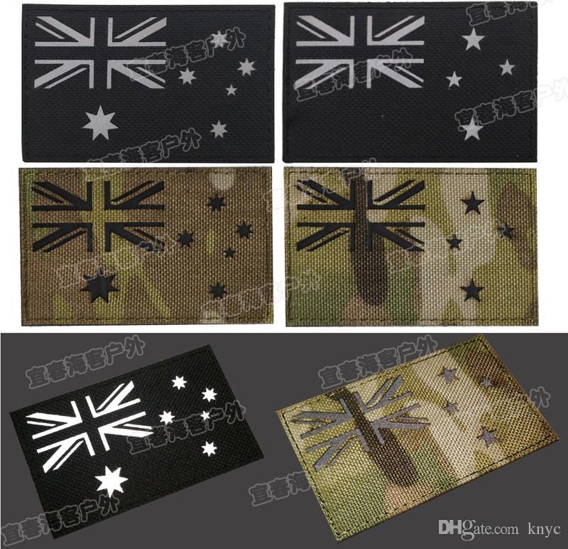 Australie drapeau Nouvelle-Zélande brodé crochet et boucle attaches armée correctifs insigne tactique brassard moral pour sac à dos casquettes livraison gratuite