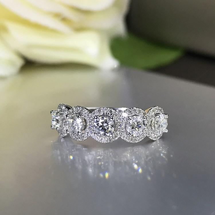 Top Quality Shinning cz Anelli per gioielli per le donne Brand argento colore bague femme di lusso fidanzamento anello da donna