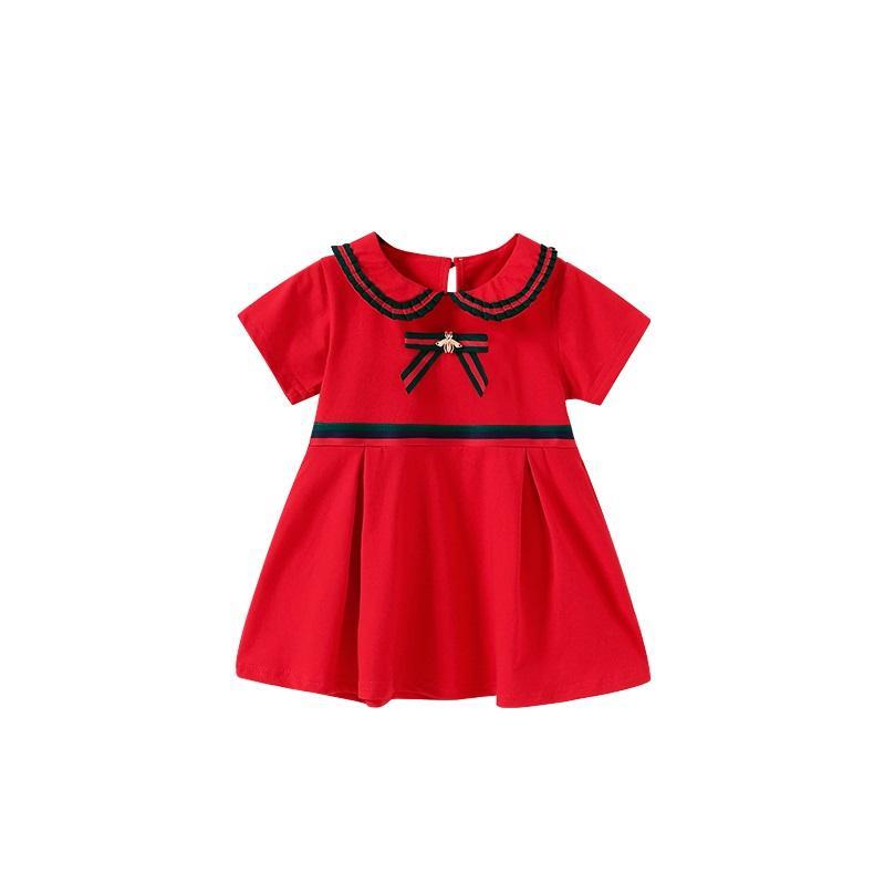 الرخيصة العصرية فتاة طفل مصمم الملابس الربيع حديثي الولادة الطفل فساتين لطيف للفتيات الطفل الصغير الزي الملابس