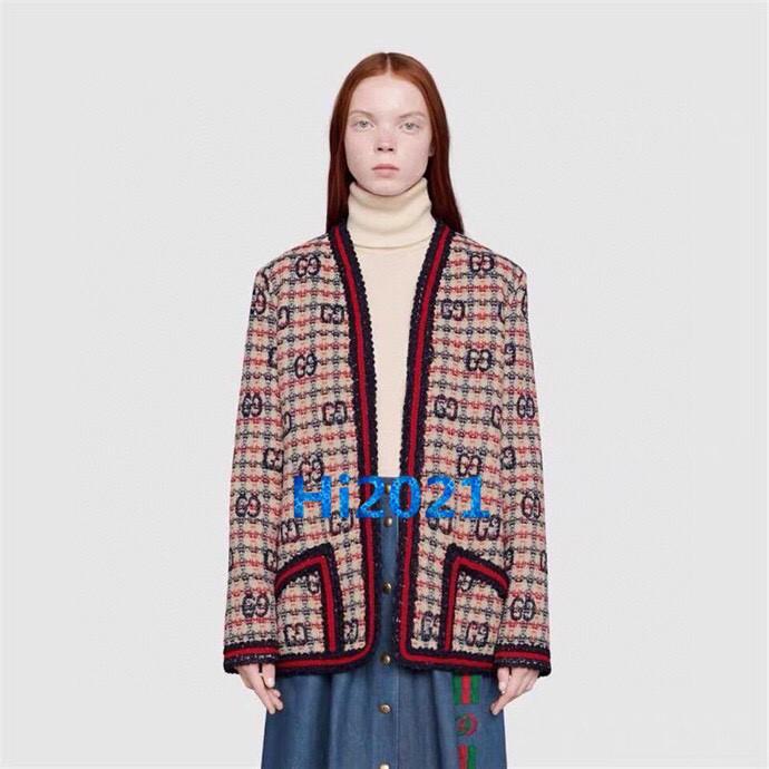 الراقية النساء الفتيات تويد سترة معطف أعلى خمر colorblock إلكتروني الاختيار الجاكار معطف طويل الأكمام 2020 أزياء المرأة قمم سترة