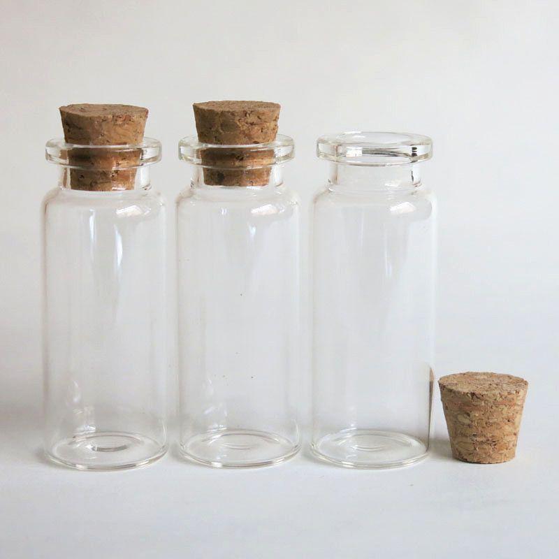 1000 x 12ml bottiglia di vetro libera con sughero di legno 12cc collo della piegatura di immagazzinaggio del mestiere decorativo che desidera la bottiglia 22 * 55 * 12,5 millimetri Contenitori