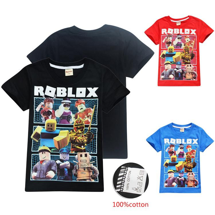 2020 Roblox Kids Tee Shirts 4 12t Kids Boys Girls Cartoon Printed