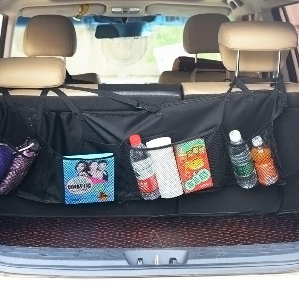 Universal Auto Car Organizer Trunk Rear Back Seat Storage Bag Mesh Net Pocket