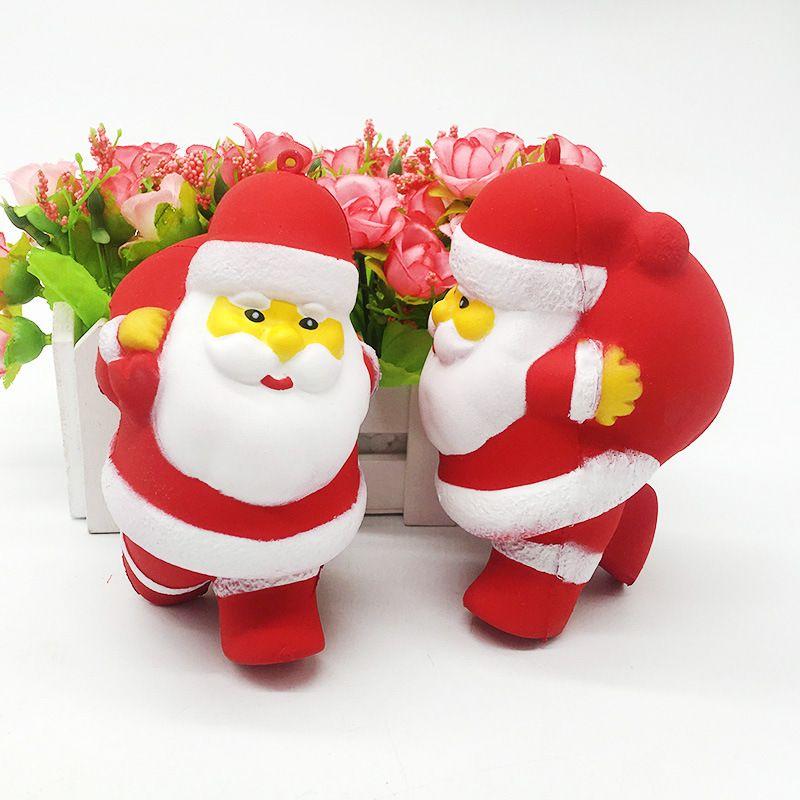 Kawaii Симпатичные Санта-Клаус Squishy Toys Медленно растущий Jumbo PU для детей Партийные игрушки Игрушка для снятия стресса на Рождество