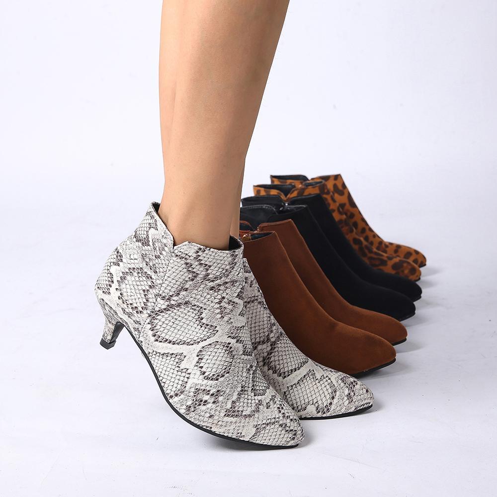 Womens Botas Moda Feminina Casual Shoes Martins botas de camurça sapatos de couro Buckle High Heeled Zipper neve para Femme