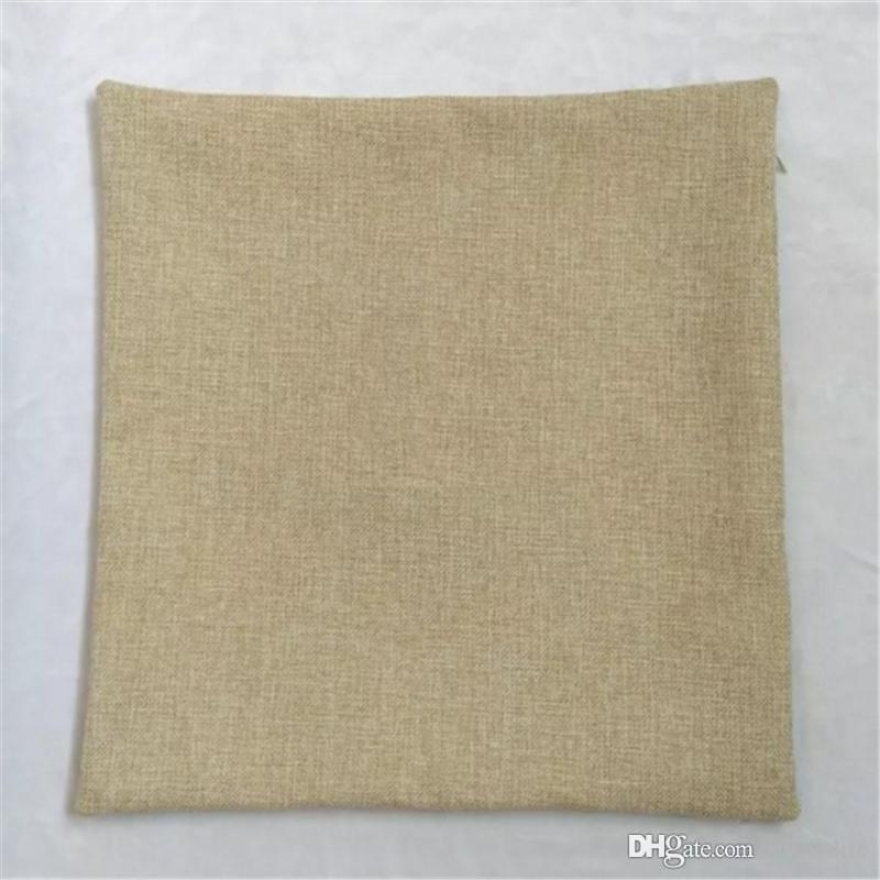 Blank Cushion Cover Linen Cotton Zippered Throw Pillow Case with No Design High Quality Cushions Cases for DIY 40*40cm and 45*45cm aa714-718