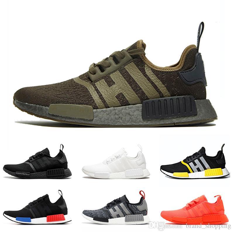 Adidas NMD R1 zapatos para mujer para hombre Mastermind Japan blancos negros Deportes zapatillas de deporte para hombre de Formadores tamaño 36-45 Running