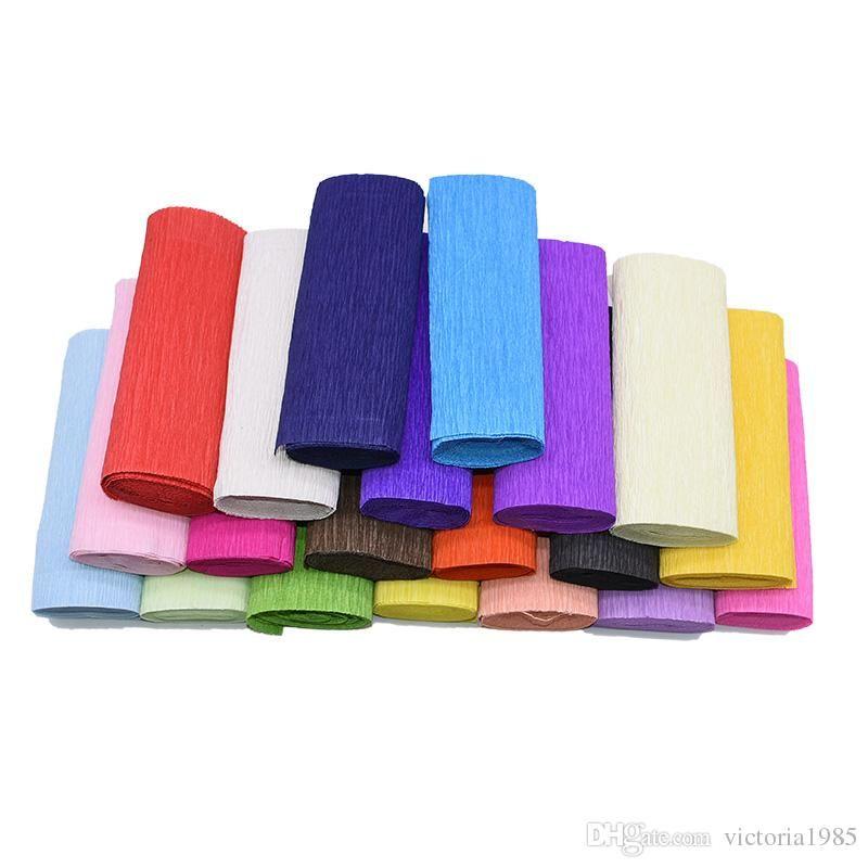 250*10 см декоративные оригами морщинистый креп бумага ремесло DIY цветок сделать обертывание раза скрапбукинг партии фон украшения