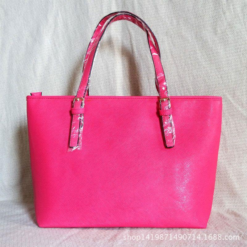 Designer-Handtaschen-Geldbeutel-Beutel-große Kapazitäts-Damen einfache Einkaufen-Handtasche PU-Leder Schultertasche