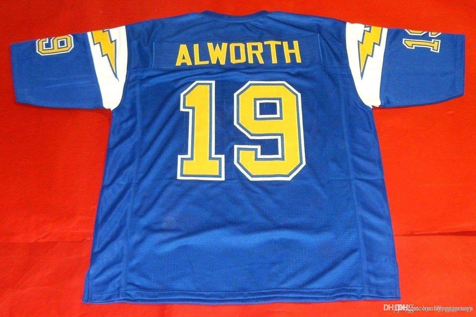 nbspNFL Retro # 19 Lance Alworth CUSTOM Top S-5XL, 6XL DB MITCHELL NESS Jersey Bule Herren Stitching Top S-5XL, 6XL Fußballjerseys Lauf