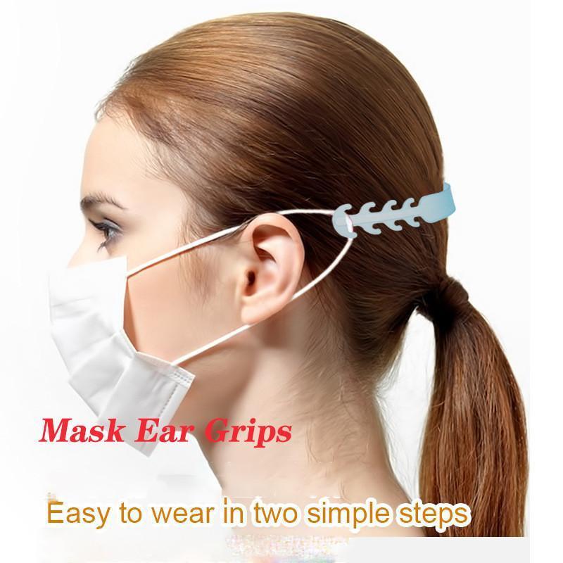 Ayarlanabilir Kaymaz Maskesi Kulak Sapları Yüz Maskesi Kulak Rahat Rahat Maske Kanca Ayarlanabilir Kulak Kayış Uzantısı çengeller