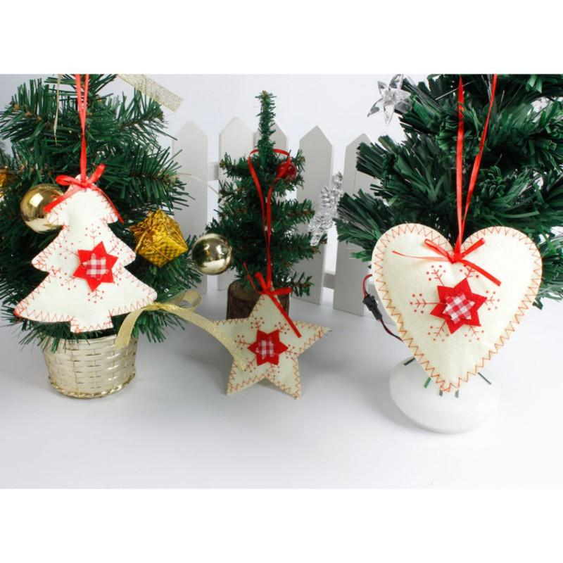 Christmas Tree Pendants Wood Craft Hanging Ornaments For Christmas Party Home Decorations Kids Gift Outdoor Decoration