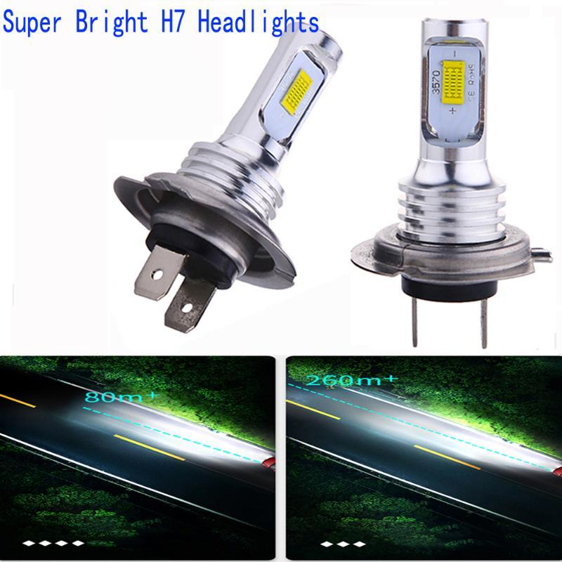 2Pcs/Lot H7 H4 Car LED Headlight High Quality Car Front Bulbs H1 H11 H3 880 9005 9006 9007 12V Auto Mini Head Lamp COB Fog Light