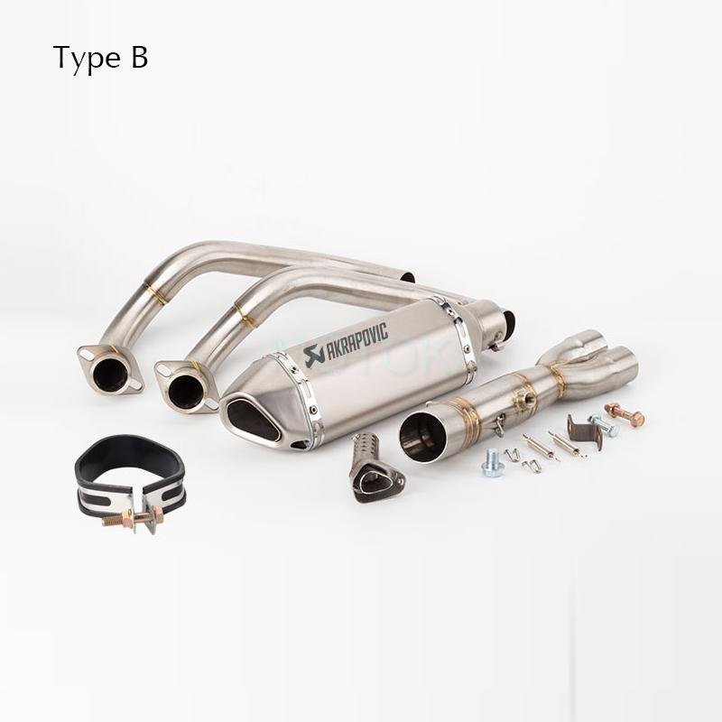 FOR YAMAHA MT-09 FZ-09 Not Tracer 2014-2019 Year Motorcycle full exhaust system slip on link middle pipe Model B