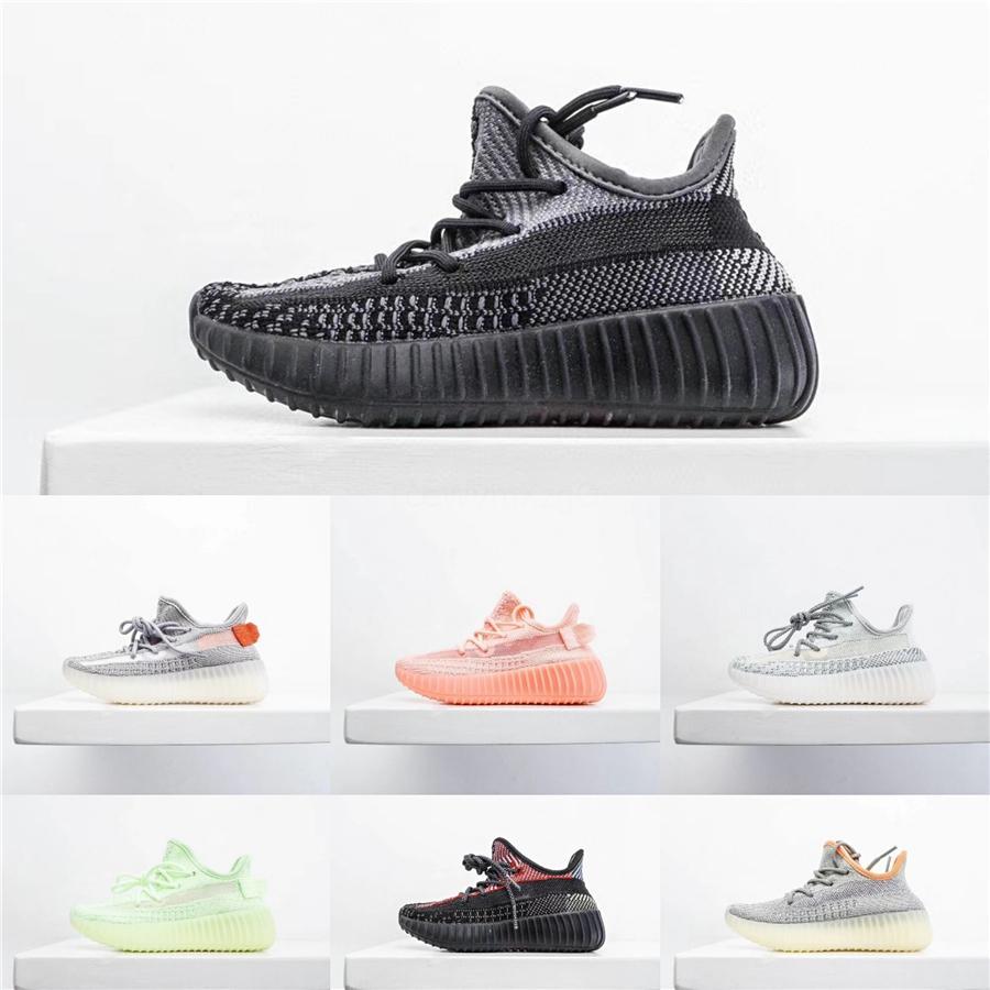 2020 Kanye West infantil arcilla 72C del niño de los niños de los zapatos corrientes estáticas Gid Chaussure De Sport Pour Enfant Hombres Mujeres Casual 720 capacitadores Sho14 # 290