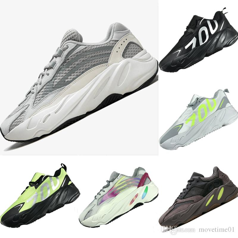 2019 Breathable 700 V2 Runner Leather and Mesh Kids Outdoors Sneakers Runner 700 V2 Tech Bubble Cushioning Kids Athletic Shoes