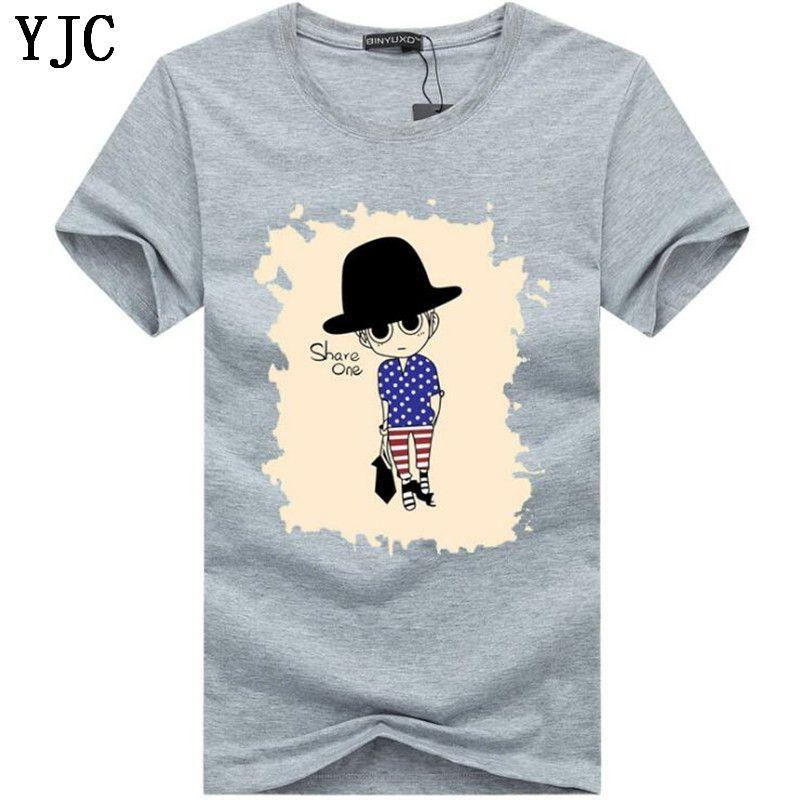 Erkek tişörtleri Yaz O-Boyun kısa kollu baskı t shirt Erkekler t gömlek gündelik marka pamuk Tee gömlek Erkekler HC-6 Tops