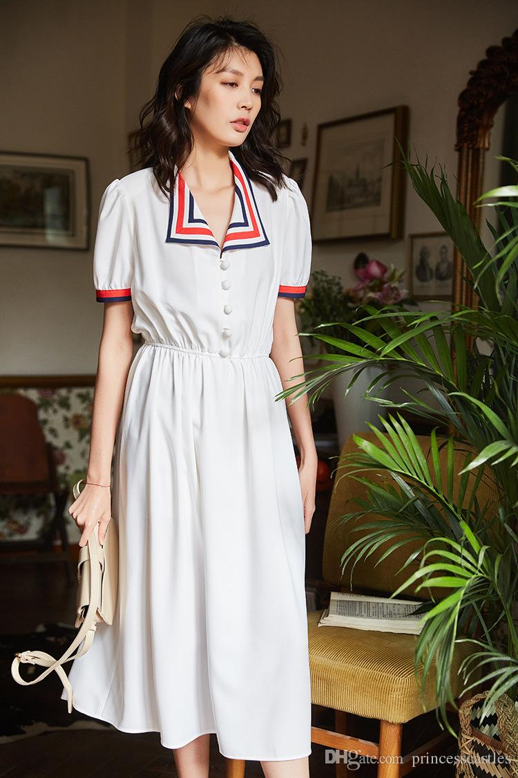 2019 дамы с короткими рукавами летнее шитье одежда для девочек профессиональная одежда для вечеринок повседневная леди мода 1LD8DS-51R