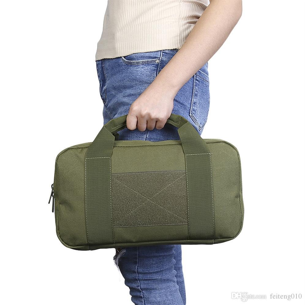 900D oxford Tactical Single Pistol Case Military molle Pistol Hand Gun Bag Multifunction Gun Rug Outdoor Soft Carry Case #743946