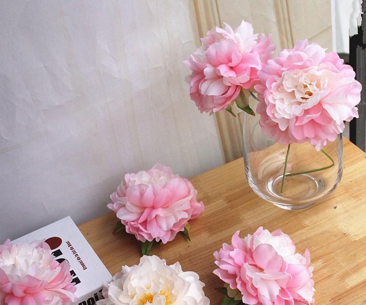 Artificial Peony Flower Head Wedding Party Christmas Decoration DIY Silk Flower Wall Background decor Accessories