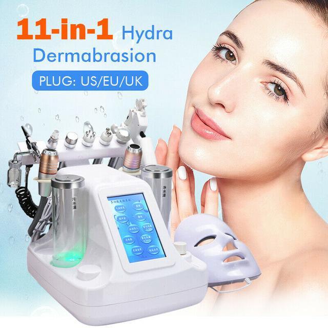 Girlove Professional 11 in 1 Hydra dermoabrasione viso Spa Macchina Bolle bio-lifting della pelle pori profondi Macchine per la pulizia