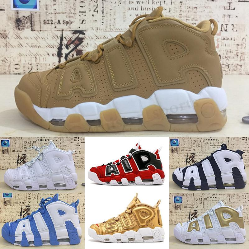 Nike Air More Uptempo 96 2019 Nouveaux Plus Uptempo QS Mens Basketball Chaussures 3M Uptempo Chicago Scottie Pippen Sport Sneakers Taille 40-46 TF542