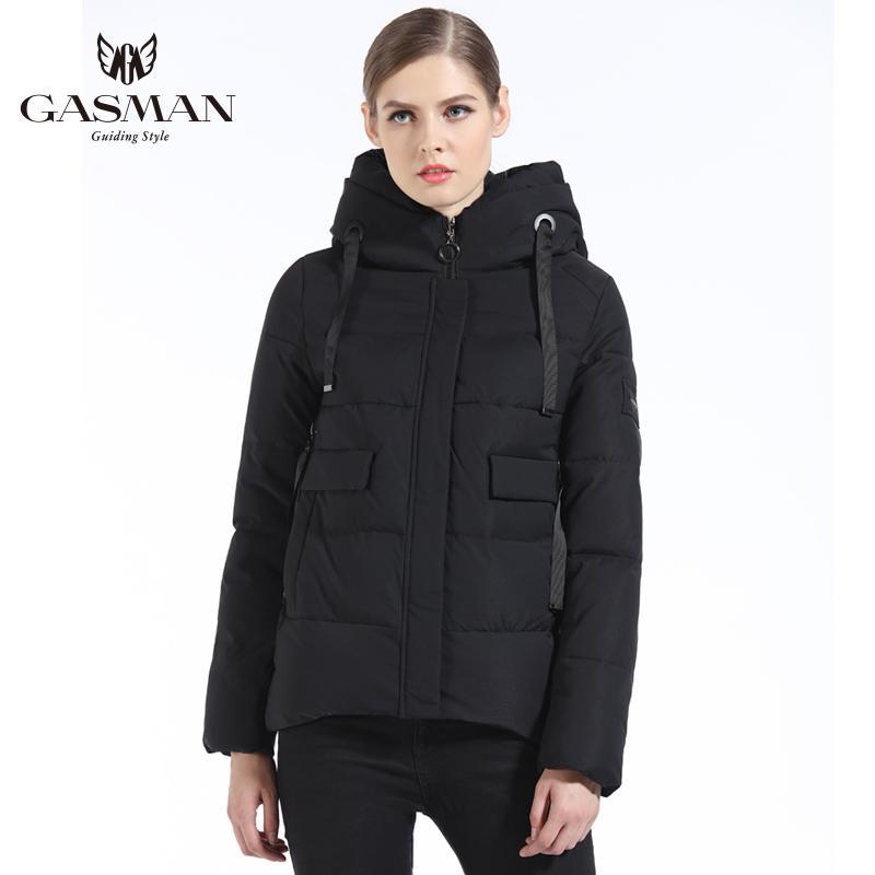 Gasman 2019 yeni bayan moda ceket İnce kış ceket kadınlar kısa ceket kadın yastıklı parka kadın palto dış giyim