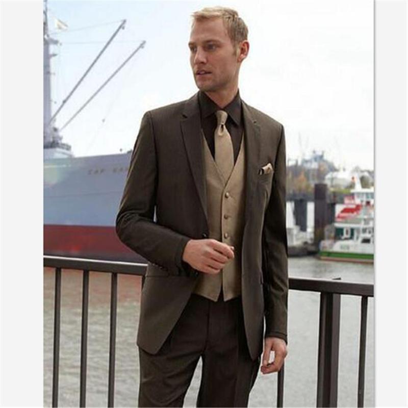 Новый бизнес-Формальное Mens Hot двубортный Костюм Мужские костюмы Groom костюмы платье West Slim Fit Пользовательские 2 шт (Blazer + Pant)