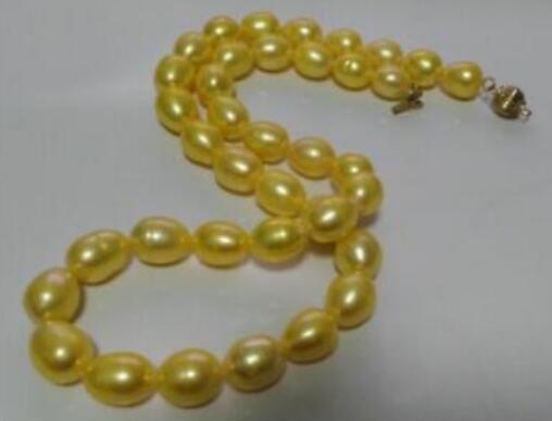 LIVRAISON GRATUITE + + superbe collier en or 18 carats de mers du Sud véritables de 8 à 9 mm