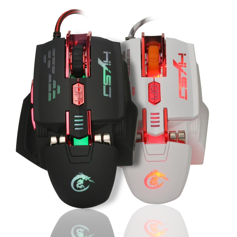 Лучшие продажи новый продвижение X200 4000 DPI красочные игровой мыши 7 кнопок Главная играть в игры оптический USB проводной компьютерной игры мыши