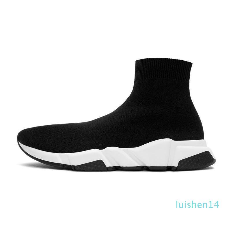 Дешевые носка обувь мужчин скорость женщин тренер высокий низкие кроссовки тройной черный белый бежевый красный розовый мужской причинным теннис обувь бег трусцой ходьбе L14