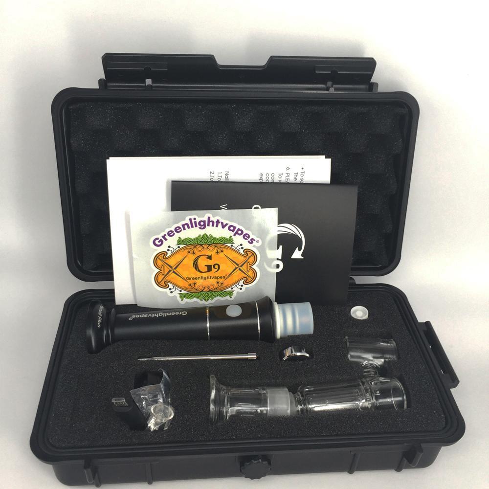 G9 Portable Henail plus Dab huile Rig cire Pen Carb Cap magnétique Dabber Pipe en verre d'eau Bong G9 H enail Kits Plus