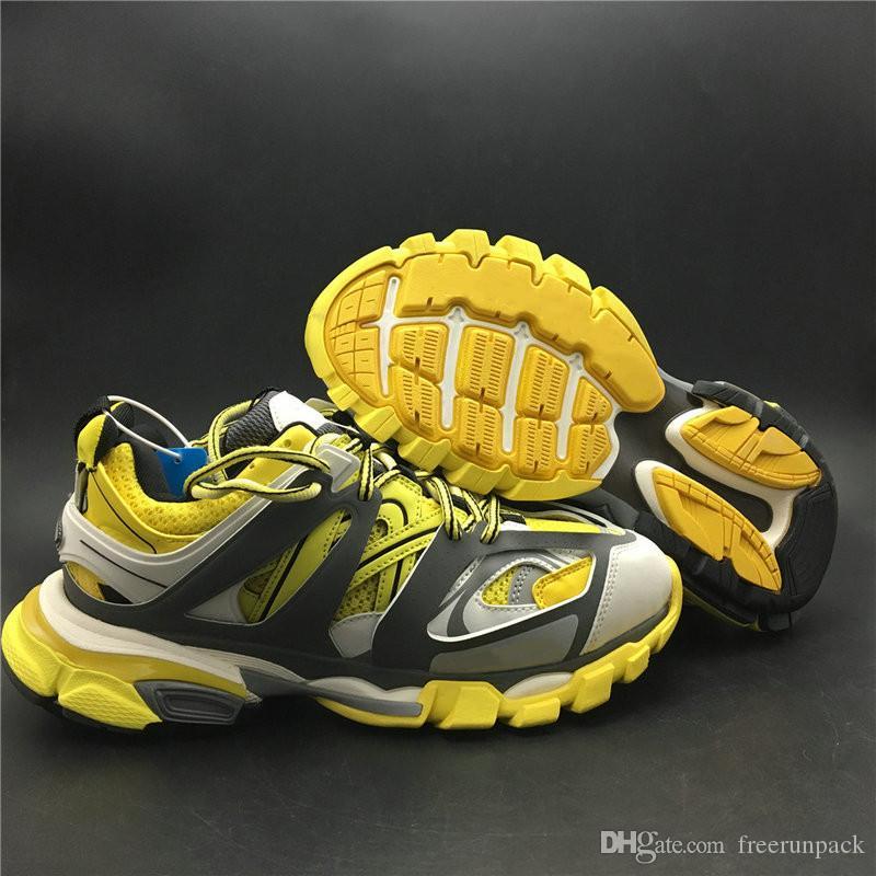Buena calidad 3.0 Zapatillas de deporte Tess.s.Gomma Gris Hombre amarillo Zapatos atléticos Comodidad Moda Mujer Zapatillas deportivas Enviar con caja