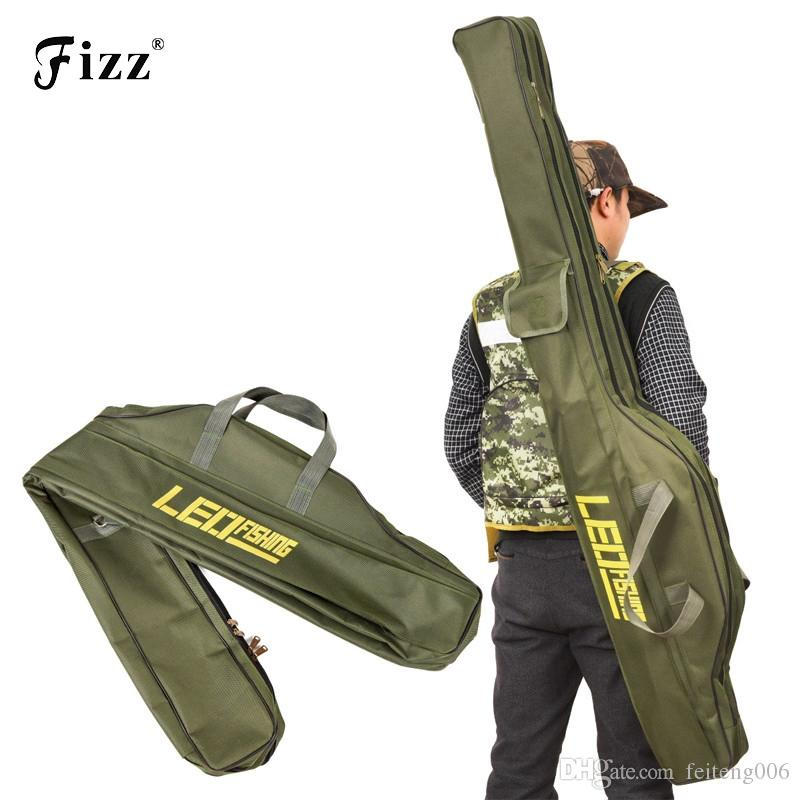 LEO Folding Fishing Rod Bags Fishing Bags 420D Zipped Case Fish Pole Tools Storage Bag Case Holder Gear Tackle Pesca 100cm150cm #892593