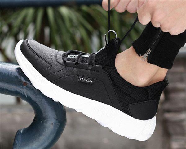 Komfortable atmungsaktive Schuhe Brettsportmann schwarz athletische Turnschuh-Schuhe Mode chaussure homme Sport mit dem Kasten