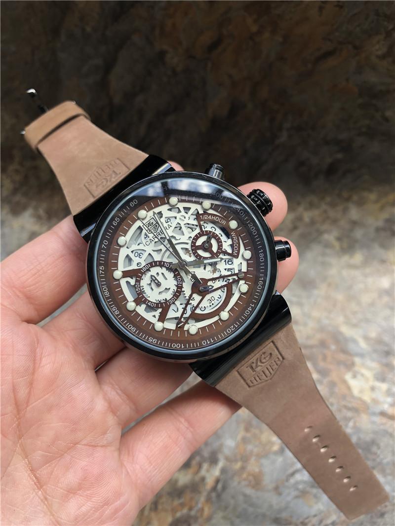 2019 nouvelles montres hommes montres copie de la marque de luxe montre à quartz hommes montre de mode en cuir montres orologio uomo homme Montre Reloj hombre