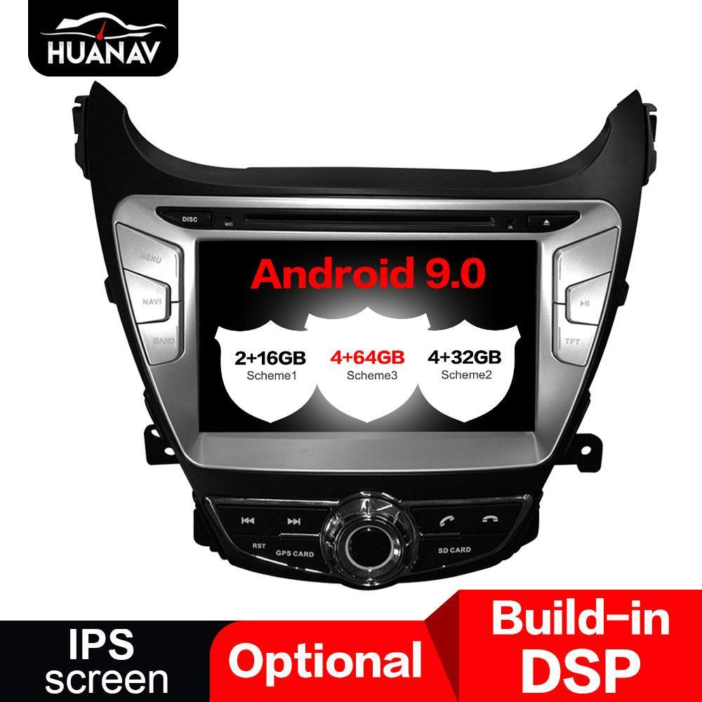 자동차 DVD 플레이어의 경우 현대 아반떼 (MD) 2,011 2,012 2,013 아반떼 GPS 네비게이션 2 딘 라디오 8 ''스테레오 안드로이드 8.1 4 + 32기가바이트을 IPS