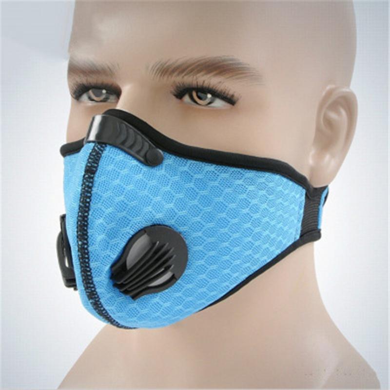 Anti PM2,5 algodón anti Haze la mascarilla del carbón activado Boca-mufla con la válvula # QA919