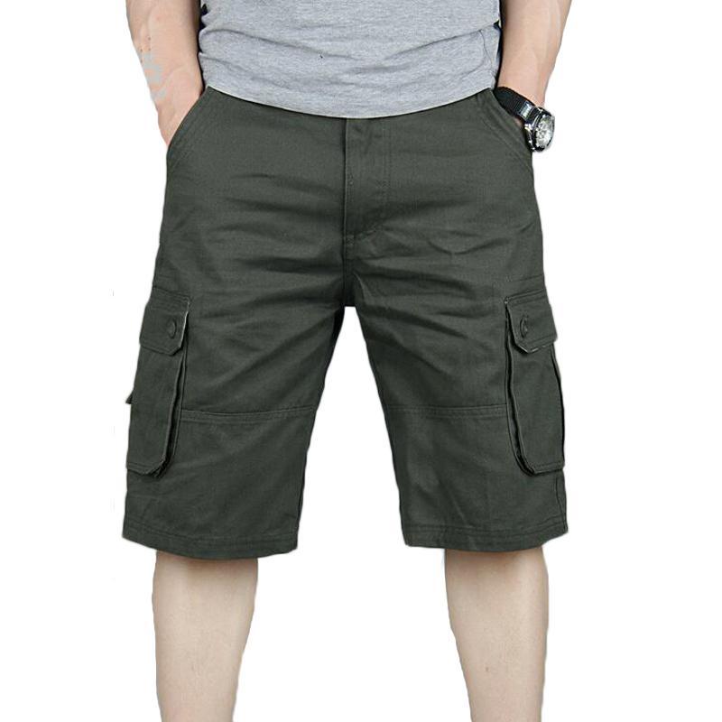 Grande bolso Outwear Sweatpants Army Shorts calções casuais Corredores Carga Wash Moda Curto Bermuda Masculina de Homens