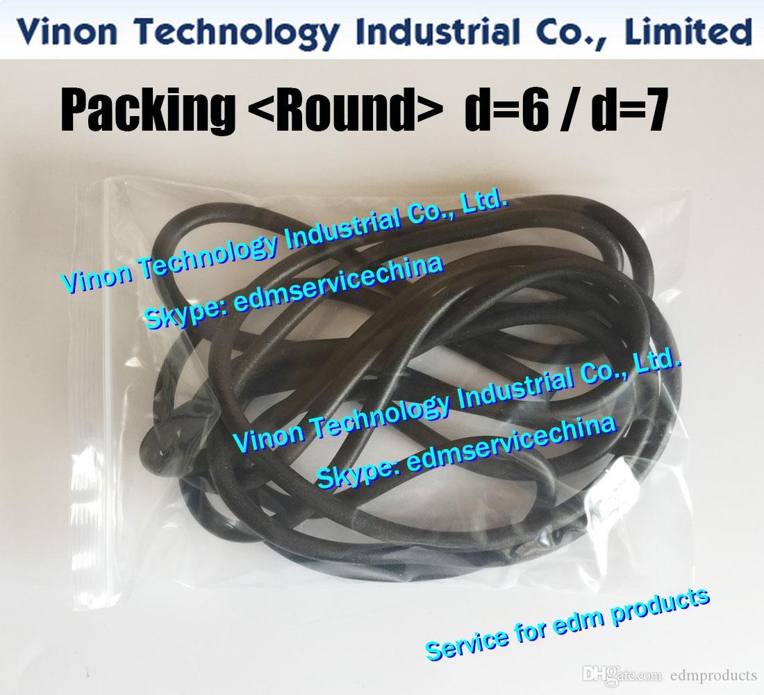 edm Seal Packing Rodada D = 7mm, 3031972,3536532,3031666,0215493 Sodic tira de vedação do tanque de 7mm para Placa de Slides (o preço unitário é vendido em metros)