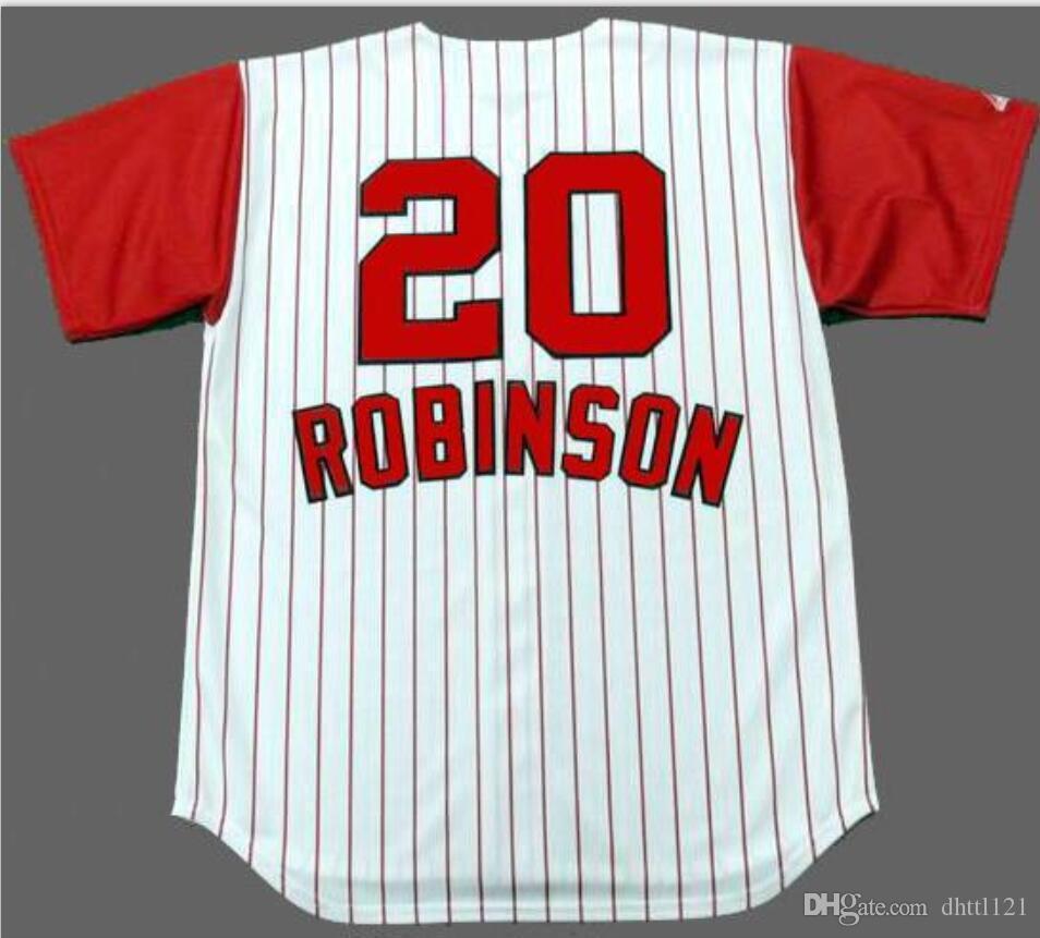 las mujeres de Hombres jóvenes Vintage, Frank Robinson, 1960 blanca rayas Inicio de época tamaño de Jersey S-4XL o costumbres, cualquier nombre o el número del jersey de béisbol