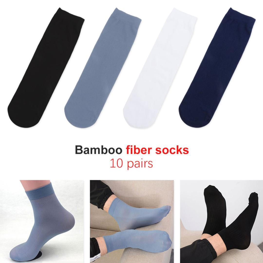 10 Pairs Men Summer Casual Solid Color Socks Mesh Breathable Soft Lot 6A