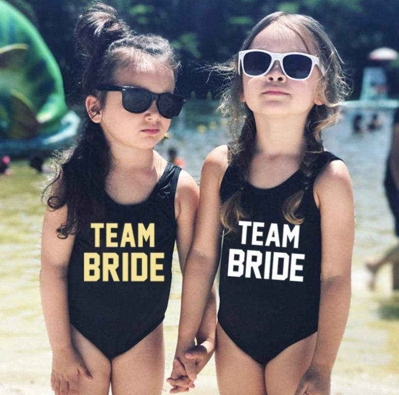 TAKIM GELİN Çocuklar One Piece Mayo Kızlar Mayo Çocuk Swim Suit Siyah Mayo Pembe Plaj Giyim Kırmızı Mayo badpak